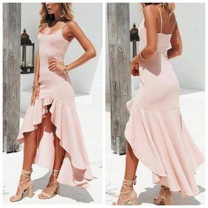 Saints + Secrets Kelly Mermaid Dress In Blush Pink